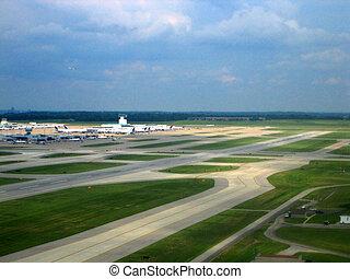 Airport aerial vies