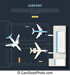 Airport. Aircraft Location. Marking. Emplanement