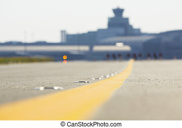 Airport - Airfield - marking on taxiway is heading to...