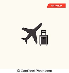 airport airlines baggage travel icon