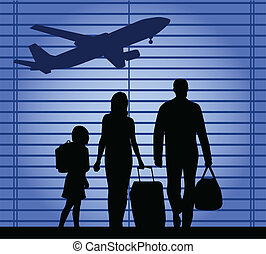 airport-an, οικογένεια , εικόνα