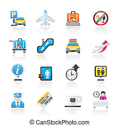 Airport and transportation icons