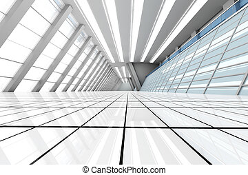 Airport Architecture - 3D rendered Illustration. Airport ...