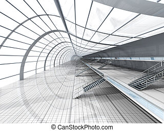 Airport Architecture - 3D rendered Illustration.