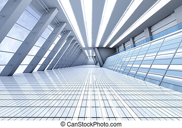 Airport Architecture - 3D rendered Illustration. Airport...