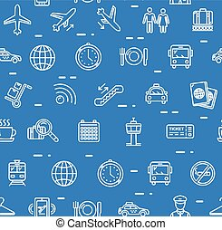 Airport Background Pattern. Vector