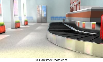 Airport baggage carousel.