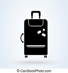 Airport baggage reclaim icon. Airplane luggage sign. Symbol...