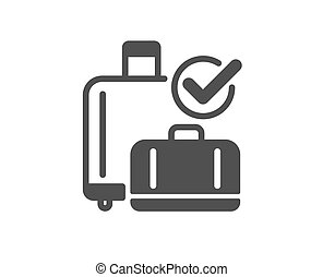 Airport baggage reclaim icon. Airplane luggage sign. Vector...