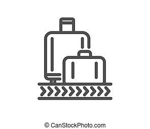 Airport baggage reclaim line icon. Airplane luggage lane ...