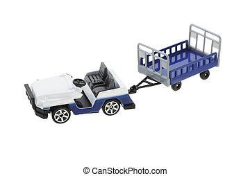 Airport baggage transporter