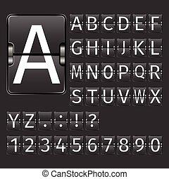Airport Board Alphabet