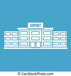 Airport building icon white