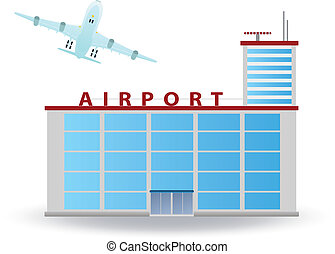 Airport building. Vector for you design