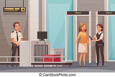 Airport Cartoon Background