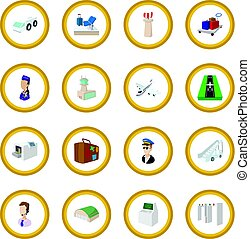 Airport cartoon icon circle