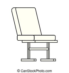 airport chair place icon