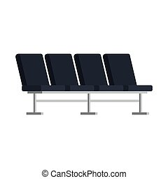 airport chairs place icon