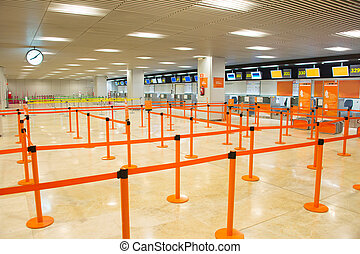 Airport check-in counter