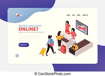Airport Check-In Landing Page