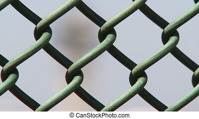 Airport Control Tower 03 - Rack focus from fence to the...
