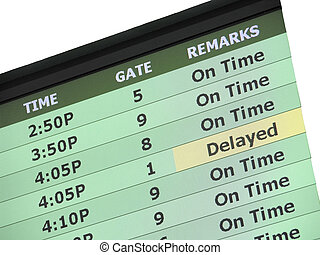 Airport Delay Sign - An Airport (Savannah, Georgia) Flight...