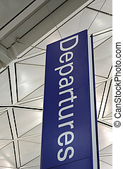 Airport departure sign - Airport interior and departure sign