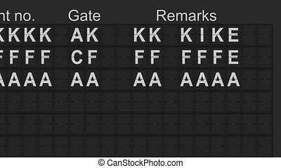 Airport Departures Board - Split flap mechanical departures...