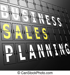 Airport display business sales planning