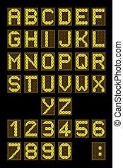 Airport display font