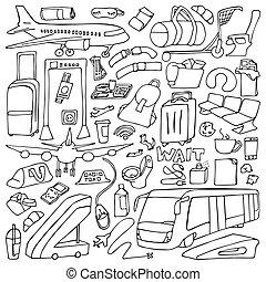 Airport Doodle Set