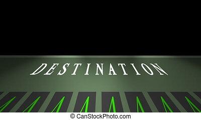 Airport flight destination board