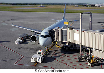 Airport Gate - Aircraft At The Loading Gate