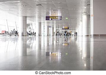 Airport gate - Interiro of a Borispol airport gate with...
