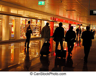 Airport - group of people in an airport