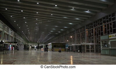 Airport hall.