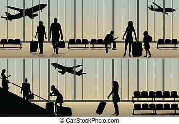 airport-, ilustracja