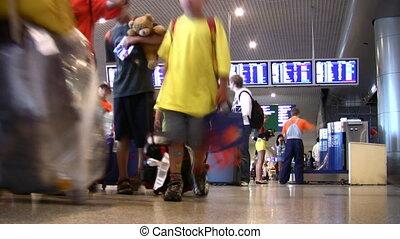 Indicator board in airport
