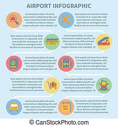Airport infographic set