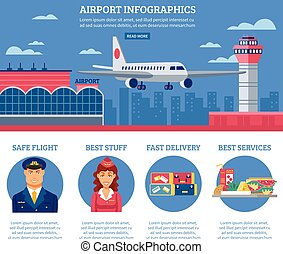 Airport Infographics Design Template