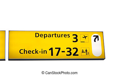 information sign - airport information sign, isolated on...
