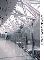 Airport interior - Interior of modern international airport