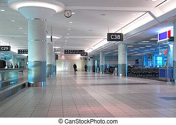 Airport interior - Interior of gates at modern internation...