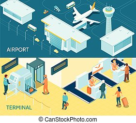Airport Isometric Banners