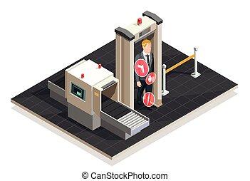 Airport Isometric Illustration