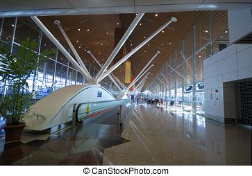 Airport Kuala Lumpur - Inside of the terminal at Kuala...