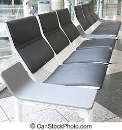 airport lounge - seats in a row in an airport or hospital