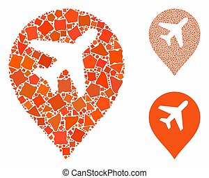 Airport map marker Composition Icon of Joggly Pieces