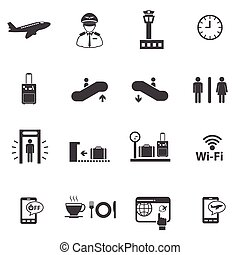 Airport, Public information icons s