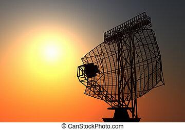 Airport radar. - An airport surveillance radar black...